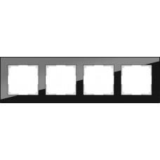 Рамка на 4 поста (черный)