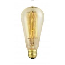 Декоративная лампочка, 1х60W (E27), Ø64, L140