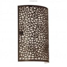 Бра ALMERA, 1X60W (E14), 180x250, сталь, коричневый/стекло, шампань