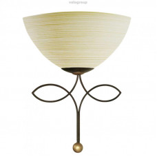 Бра BELUGA, 1X60W (E27), сталь, коричневый/стекло с бороздками, шампань