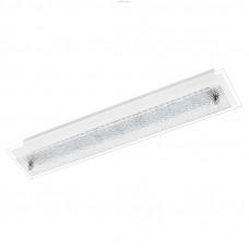 Cветодиодный светильник наст.-потол. PRIOLA, 2x4,5W(LED), 450X90, сталь, белый/cтруктурное стекло, белый
