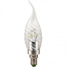 Лампа светодиодная LB-78 6LED(3.5W) 230V свеча хром