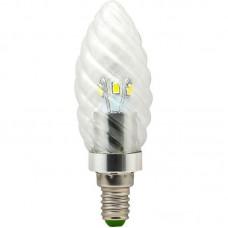 Лампа светодиодная LB-77 6LED(3.5W) 230V свеча хром