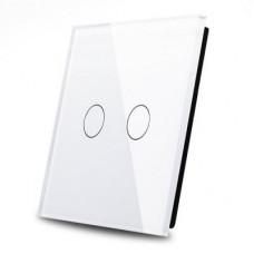Рамка для двухлинейного сенсорного выключателя(белая)